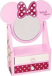 Pink Disney Minnie Mouse Jewellery Drawer With Mirror Makeup Beauty Room, Emoji Coloring Pages, Hello Kitty Rooms, Construction For Kids, Hello Kitty Coloring, Cute Furniture, Kids Play Kitchen, Jewelry Drawer, Custom Stained Glass