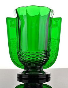 "2582 RARE Belgian Art Deco Glass Vase ""Romeo"" Val Saint Lambert 1935 | eBay"