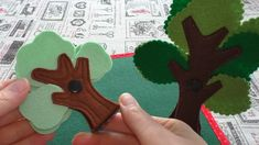 "Hello everyone! I'd like to share this wonderful Tree"" idea for Quiet Book or Game Board. Diy Quiet Books, Baby Quiet Book, Felt Quiet Books, Felt Crafts Diy, Felt Diy, Fabric Crafts, Felt Tree, 3d Tree, Quiet Book Tutorial"