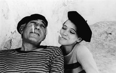 Anthony Quinn and Anna Karina