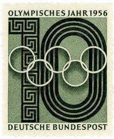 Germany stamp: Olympic Year 1956 by karen horton, via Flickr