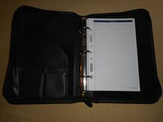 "COACH 11"" x *8 x 2""  Black Leather AGENDA by COACHCROSSING on Etsy"