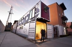 Creative Ideas, Attractive Office Built From Shipping Container: Converted Shipping Container into Incredible Place to