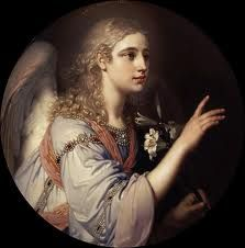 """Vladimir Lukich Borovikovsky Archangel Gabriel (from the """"Annunciation), Adorable Petite Fille, Saint Gabriel, William Adolphe Bouguereau, Angel Guidance, I Believe In Angels, Ascended Masters, Les Religions, Doreen Virtue, Art History"""