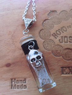 Protection Spell Phial Necklace - Safety, Clearing Negativity in a glass phial on Etsy, $24.00