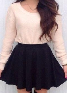 Kup mój przedmiot na #vintedpl http://www.vinted.pl/damska-odziez/spodnice/14567052-spodnica-rozkloszowana-czarna-new-look-38
