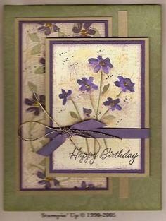 Birthday Memories using Stampin Up Close as a Memory