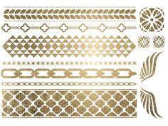 TATTOO - Gold Bracelets & Wings