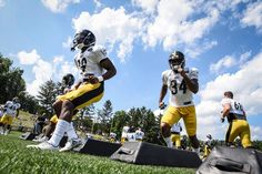 8727a1bbe JuJu Smith-Schuster and Knile Davis Steelers Training Camp