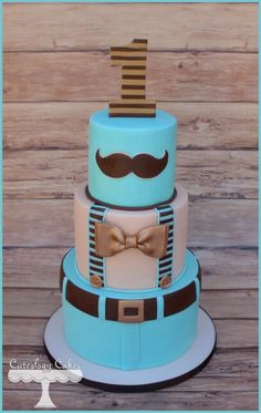 Little Man Cake, 1st birthday for a baby boy