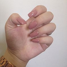 Nails Square Beige