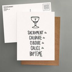 Sacred Card from Quebec / Postcard // Sacrament by Darveelicious