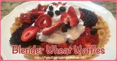 """My kids LOVE when I """"celebrate"""" holidays by making festive foods. I don't always love throwing food color into everything so I'm trying to do better at using natural foods to liven things up. I was going to make some patriotic blender wheat pancakes for dinner but the kids insisted on waffles instead so I …"""