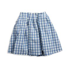 twirly check plaid skirt (165 SEK) ❤ liked on Polyvore featuring skirts, mini skirts, bottoms, saias, blue and 77 girls