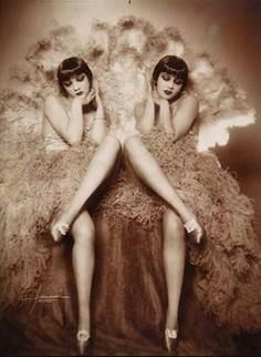 Dolly Sisters-- vintage twins in show biz
