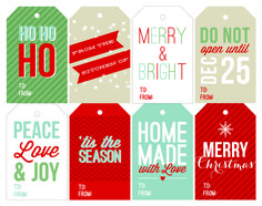 Free Printable Holiday Gift Tags on twopeasandtheirpod.com