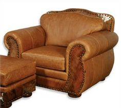 whiskey color leather furniture | csf0977c70h5 The Legend Saloon Tee Pee & Hair on Hide Chair