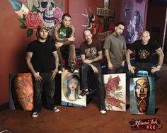 Miami Ink, any of these guys for a tattoo especially Chris Garver.