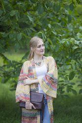 """Boho-Chic"" Kimono jacket in Abstract Geometric pattern"