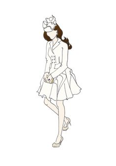 "Duchess of Cambridge Fashion Coat Print 8.5""x11"" - Alexander McQueen Pique Coat"