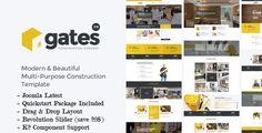 Gates - Multi-Purpose Construction Joomla Template