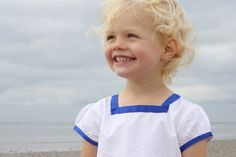 Petit Bateau white and blue t-shirt on the Geoffrey & Grace blog