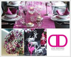 Twist on Christmas Color Tradition: Hot Pink, White and Silver Color Scheme | The Decorating Diva, LLC