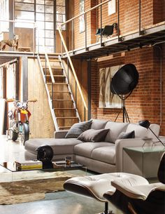 Maximizing the enjoyment of downtime is something Jeffrey Bernett is passionate about because he spends a fair bit of free time doing extreme sports. A DWR favorite, the Reid Sofa Collection is just pure comfort.
