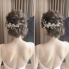 * ********************** fluffy up do style💫 ********************** * * , Weird Wedding Dress, Romantic Wedding Hair, Hair Comb Wedding, Dance Hairstyles, Bride Hairstyles, Bridal Headdress, Hair Arrange, Hair Images, Bridal Hair Accessories