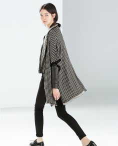 ZARA - NEW THIS WEEK - KNITTED PONCHO