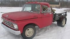 56 Ford Truck, Old Ford Trucks, Cool Trucks, Cool Cars, Vintage Pickup Trucks, Dually Trucks, 1964 Ford, Used Ford, Flat Bed