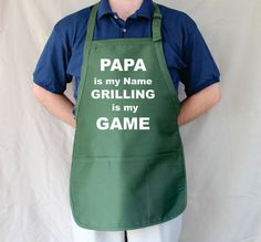 Papa Personalized Aprons Mens gifts Christmas Gift by Tees2Express, $19.99
