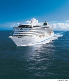 #CrystalSerenity at your service! Pinned from Crystal Cruises #cruise #cruiseabout