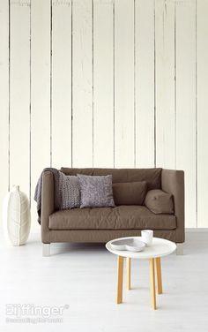 Eijffinger behang Wallpower Rythm - hout, naturel, wit - 330044