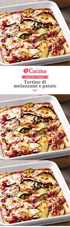 Tortino di melanzane e patate – Rezepte Vegetarian Recipes, Cooking Recipes, Healthy Recipes, Best Italian Recipes, Favorite Recipes, Antipasto, Quiche, Good Food, Yummy Food