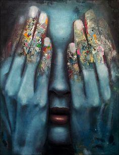 """Saatchi+Online+Artist+Mihail+-Miho-+Korubin+;+Painting,+""""it+is+over""""+#art"""