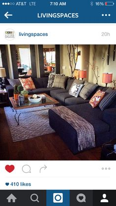 These Living Spaces fans are loving the Costello Sofa Sectional in their home - and so are we! Cozy Living Rooms, New Living Room, Home And Living, Living Room Decor, Living Spaces, Style At Home, Modern Home Interior Design, Up House, Living Room Inspiration