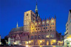 """Nikolauskirche"" and ""Rathaus"", Hanseatic City of Stralsund"