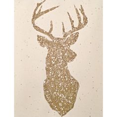 Glittered Deer Print by ArrowsandApricots on Etsy, $10.00