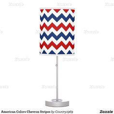 American Colors Chevron Stripes Table Lamps