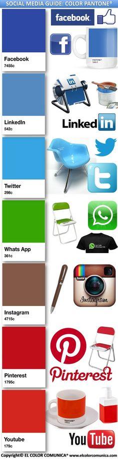 The color guide for Social Media platforms  #Facebook #Twitter #LinkedIn #Pinterest #YouTube #Socialmedia