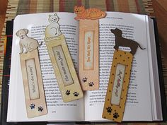 Cat and Dog bookmarks made with Cricut