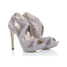 gray heels for bridesmaids?