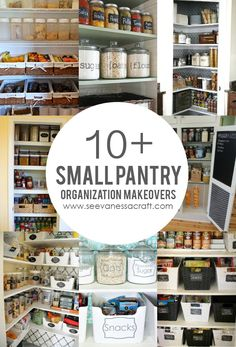 Over 10 Small Pantry Organization Makeover Ideas