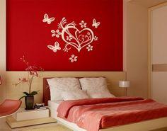 Valentine Heart Wall Decals, Wall Sticker, Valentine Wall Tattoo. Love Wall Decals.