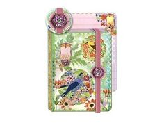 Punch Studio Journal Pocket Brooch Owl Pink