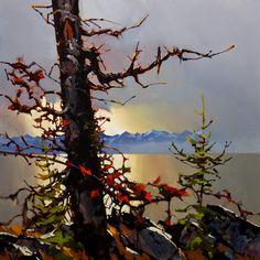 """Bony Arms of a Black Oak,"" by Michael O'Toole 30 x 30 - acrylic"