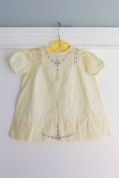 0-6 months: Handmade hand embroidered vintage baby by Petitpoesy