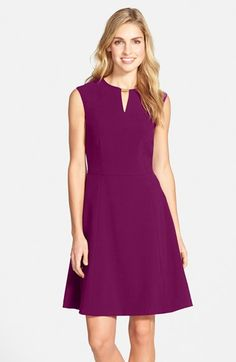 Tahari Embellished Bi-Stretch Fit & Flare Dress (Regular & Petite) available at #Nordstrom