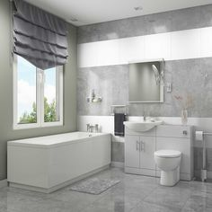 Impakt Complete Bathroom Suite with 1700mm x 750mm Single Ended Bath